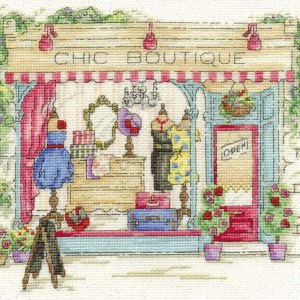 DMC Cross Stitch Kit CHIC BOUTIQUE Counted X-Stitch with Threads New - BK1543