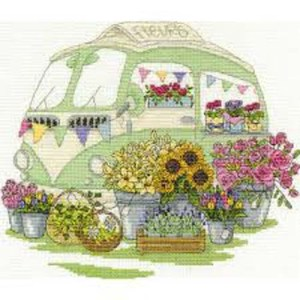 DMC Cross Stitch Kit LES FLEURS CARAVAN Counted X-Stitch with Threads New - BK1547