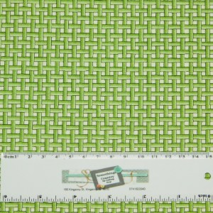Patchwork Quilting Sewing Fabric GREEN BASKET WEAVE CHECK 50x55cm FQ New