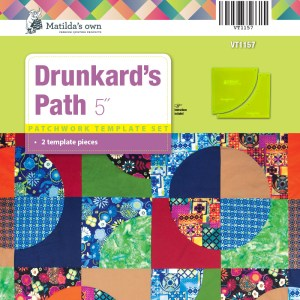 Quilting Patchwork Sewing Template DRUNKARDS PATH 5 Inch Matilda's Own New