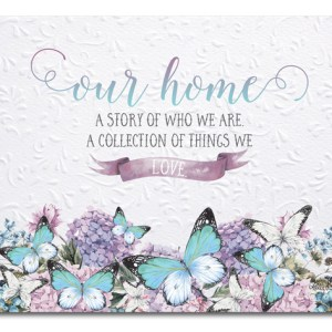 Kitchen Cork Backed Placemats AND Coasters BEJEWELED BUTTERFLY OUR HOME Set 6 New