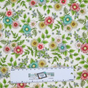 Patchwork Quilting Sewing Fabric ROAM SWEET HOME FLOWERS 50x55cm FQ New