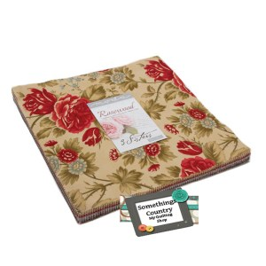 Moda Patchwork Quilting Sewing Layer ROSEWOOD 10 Inch Squares 3 Sisters Fabric New