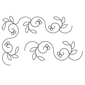 Quilting Full Line Stencil BERRY VINE Reusable for Quilts use Pounce A3 New