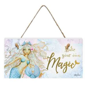 French Country Inspired Wall Art MERMAID Magic 15x30cm Wooden Sign New