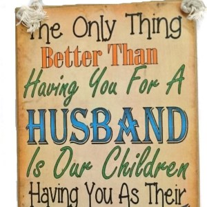 Country Printed Quality Wooden Sign BEST HUSBAND AND DADDY Inspiring Plaque New