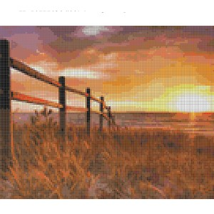 Cross Stitch Pattern FENCED IN Sunset New X Stitch Gwen Street Designs New