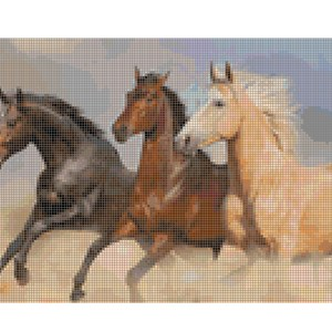Cross Stitch Pattern WILD HORSES New X Stitch Gwen Street Designs New