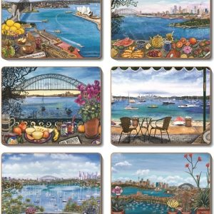 Country Inspired Kitchen SYDNEY BALCONIES Cork Backed Placemats or Coasters Set 6 New