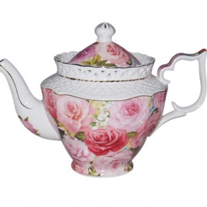French Country Lovely Kitchen Teapot ENDURING ROSE China Tea Pot with Giftbox New