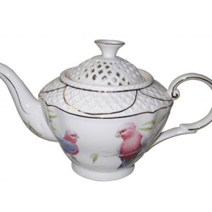French Country Lovely Kitchen Teapot GALAH China Tea Pot with Giftbox New