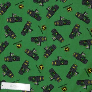 Patchwork Quilting Sewing Fabric JOHN DEERE TRACTOR WHEELS 50x55cm FQ New