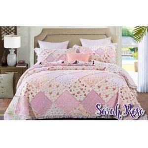 French Country Vintage Patchwork Bed Quilt SAINT CLAIRE QUEEN New