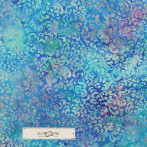 Quilting Patchwork Fabric BATIK MULTI BLUES Wide Backing 270x50cm New