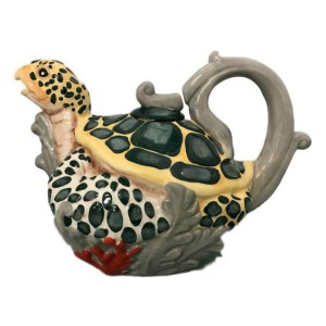 Collectable Novelty Kitchen Teapot SEA TURTLE Blue Sky China Tea Pot New
