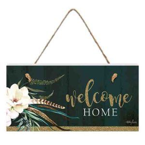 French Country Inspired Wall Art BOHO LUXE WELCOME HOME 15x30cm Sign New