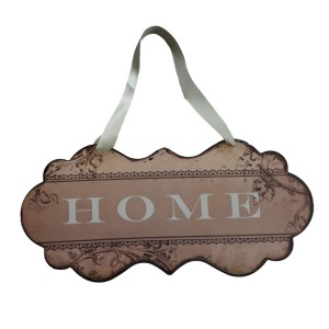 Country Printed Quality Metal Sign with Hanger FAWN HOME Plaque New