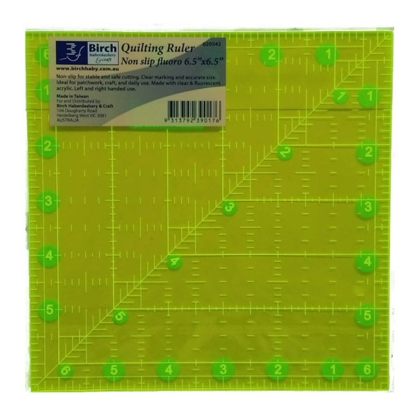 """Quilting Patchwork Sewing Template Square 6.5"""" x 6.5"""" Birch New"""