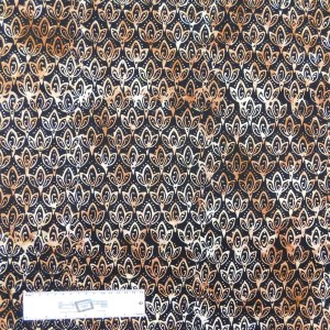 Patchwork Quilting Sewing Fabric BATIK FLOWER POD Allover 50x55cm FQ New
