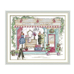 Cross Stitch Kit CHIC BOUTIQUE X Stitch Joy Sunday Designs Incl Threads New