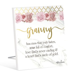 French Country Standing Art Blush Crush GRANNY GOLD Glitter Wooden Sign New