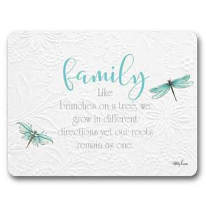 Kitchen Cork Backed Placemats AND Coasters DRAGONFLIES FAMILY Set 6 New
