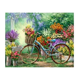 5D Diamond Painting Full Image Square Drills BICYCLE GARDEN 50x40cm New