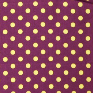 Patchwork Quilting Sewing Fabric MAROON and GOLD SPOTS 50x55cm FQ New