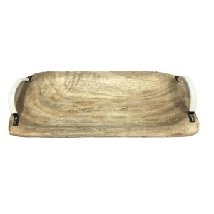 French Country Vintage Inspired RUSTIC TIMBER Wooden Tray New