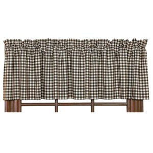French Country Curtain Ruffled BROWNSTONE 180x40cm Kitchen Window VALANCE New
