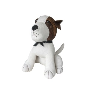 French Country Vintage Look Sitting Weighted RUSSELL DOG DOORSTOPPER New Door Stopper