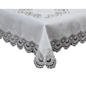 French Country Doiley VICTORIA White Lace Doily Duchess Table Topper 90x90cm New