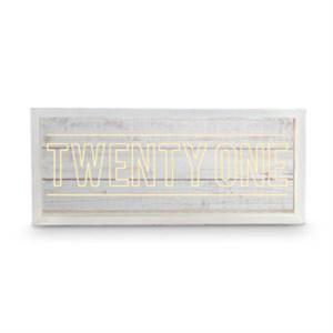 Wishing Well WHITEWASH Wooden LED TWENTY ONE 21st Birthday Box New