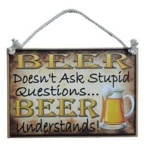 Country Printed Quality Wooden Sign BEER UNDERSTANDS Plaque New
