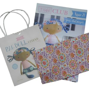 Tilda Club 10/18 Issue 21 Quilting Sewing Fabric Issue Craft Pattern Kit New