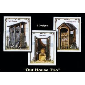 Country Threads Cross Stitch OUT HOUSE TRIO Kit New X Stitch FJP-1003 New