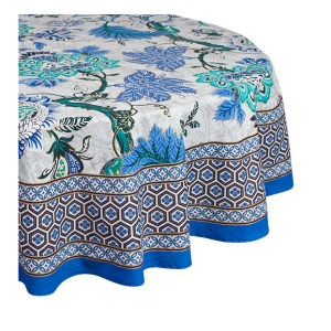 French Country Kitchen Table Cloth SAPPHIRE Tablecloth ROUND Cotton 180cm New