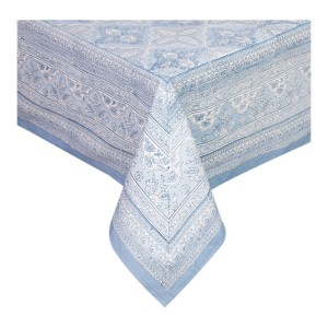 French Country Kitchen Table Cloth BLUE Tablecloth Cotton Large 150x320cm New