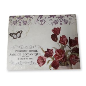 French Country Vintage Inspired Picture Wall Canvas JARDIN BOTANIQUE New