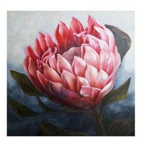 French Country Stretched Canvas Print Large PROTEA 1 Painted Print 80x80cm New