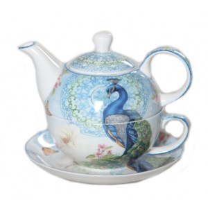 French Country Lovely Teapot Australian PEACOCK TEA FOR ONE with Gift box New