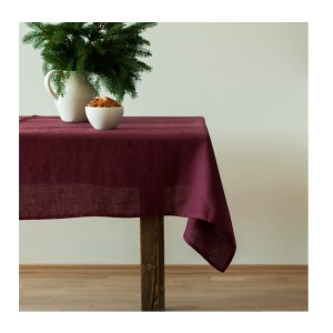 Country Style New Table Cloth KILDARE BURGANDY Tablecloth RECT 150x270cm New
