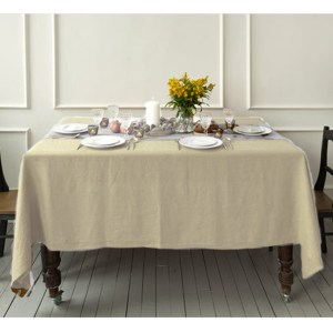 Country Style New Table Cloth KILDARE SAND Tablecloth RECT 140X185cm New