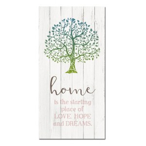 French Country Stretched Canvas Print HOME LOVE HOPE DREAMS Sign 80x40cm New
