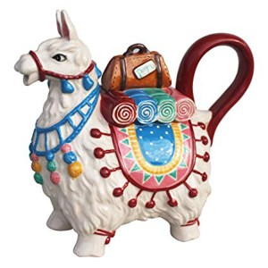 Collectable Novelty Kitchen Teapot LLAMA Blue Sky China Tea Pot New