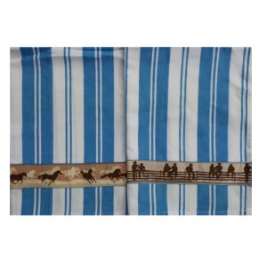 Country Style New Tea Towels Set of 2 COWBOY Handmade Teatowels New