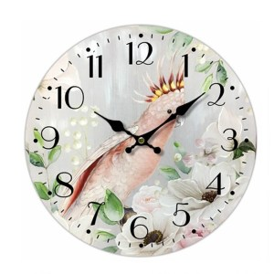 Clock French Country Vintage Wall Hanging 34cm MAJOR MITCHELL PARROT New