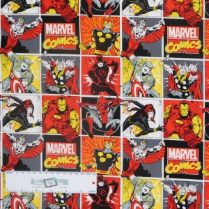 Quilting Patchwork Sewing Fabric MARVEL COMICS 50x55cm FQ Material New