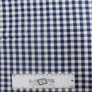 Quilting Patchwork Sewing Fabric NAVY GINGHAM CHECK 50x55cm FQ New