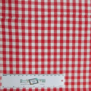 Quilting Patchwork Sewing Fabric RED GINGHAM CHECK 50x55cm FQ Material New